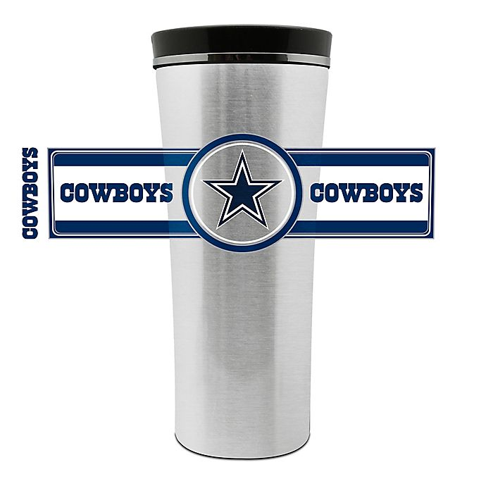 Dallas Cowboys Stainless Steel Coasters 4 Pack: NFL Dallas Cowboys 16 Oz. Stainless Steel Leak-Proof
