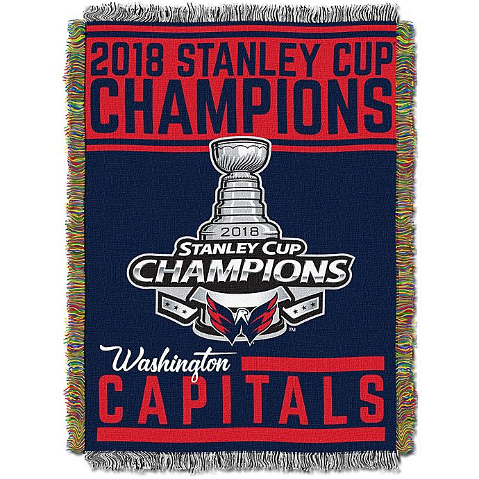 Alternate image 1 for NHL 2018 Champions Washington Capitals Tapestry Throw Blanket