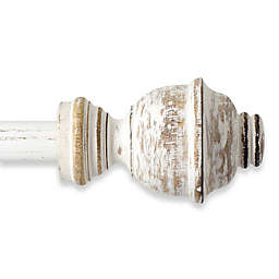 The Farmhouse Collection Cambridge Adjustable Curtain Rod in Distressed Ivory