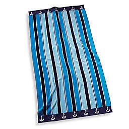 Ocean Stripe Oversized Beach Towel