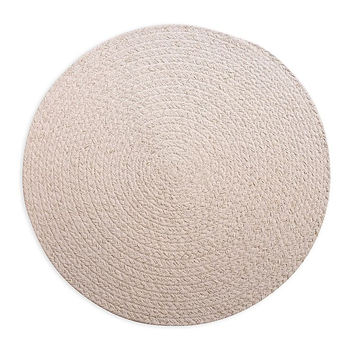 Alternate image 1 for Sparkle Braided Round Placemat in Ivory/Gold