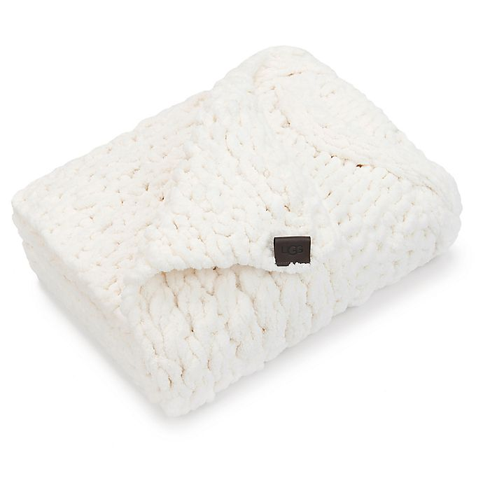 Ugg 174 Harper Chunky Knit Throw In Snow Bed Bath Amp Beyond