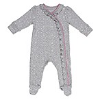 Sterling Baby Newborn Lace Footie in Grey/Pink