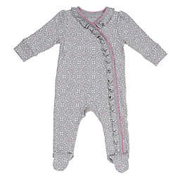 Sterling Baby Lace Footie in Grey/Pink