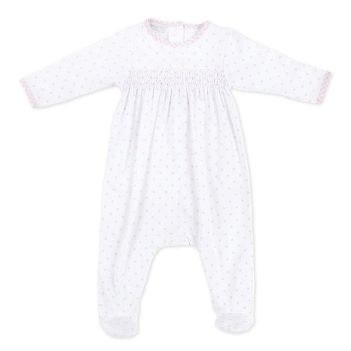Alternate image 1 for Magnolia Baby™ Smocked Footie in Pink