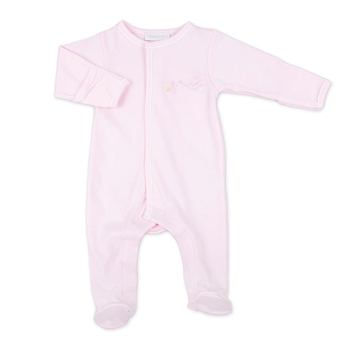 Alternate image 1 for Magnolia Baby™ Stork Footie in Pink