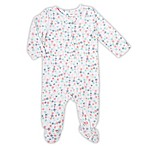 aden® by aden + anais® Size 0-3M Floral Footed Coverall in White
