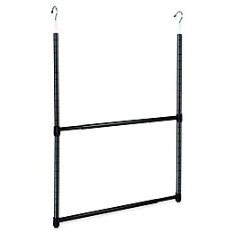 Oceanstar Design 2-Tier Adjustable Closet Rod