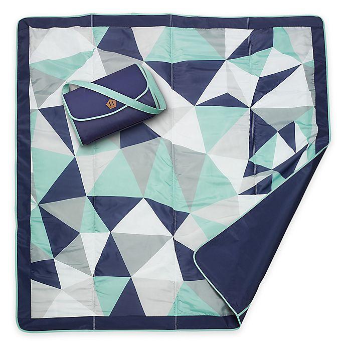 Alternate image 1 for JJ Cole® Outdoor Mat in Blue Fractal