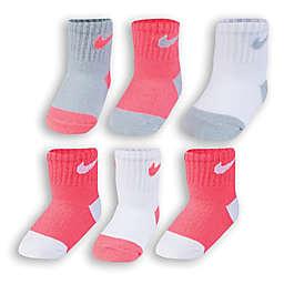 Nike® 6-Pack Logo Socks in Pink/Grey