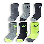 Nike® 6-12M 6-Pack Volt Socks in Black/Lime