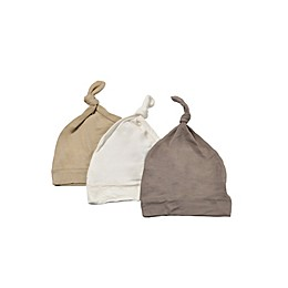 Kyte BABY 3-Pack Knotted Cap in Clay, Sand, and Cloud