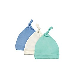 Kyte BABY 3-Pack Knotted Cap in Aqua, Sky, and Cloud