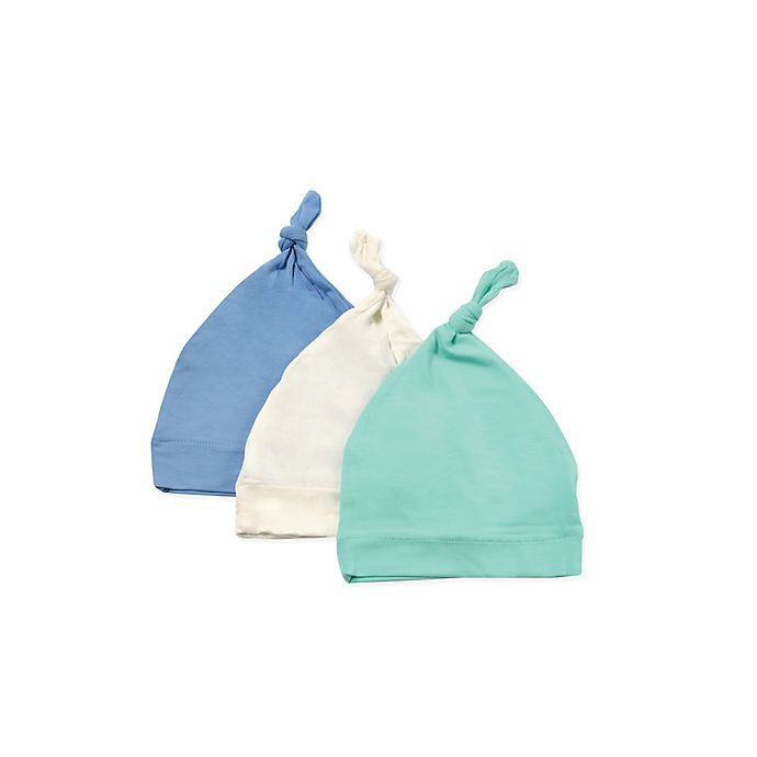Alternate image 1 for Kyte BABY 3-Pack Knotted Cap in Aqua, Sky, and Cloud