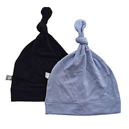 Kyte BABY 2-Pack Knotted Cap in Midnight and Slate