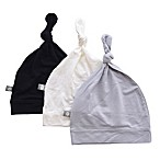 Kyte BABY 0-6M 3-Pack Knotted Cap in Midnight, Cloud, and Storm