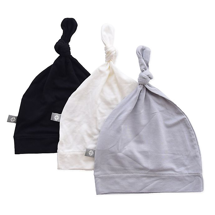 Alternate image 1 for Kyte BABY 3-Pack Knotted Cap in Midnight, Cloud, and Storm