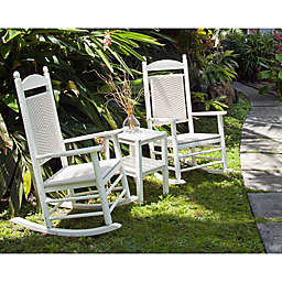 POLYWOOD® Jefferson 3-Piece Woven Rocker Set