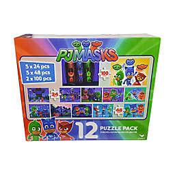 Cardinal PJ Masks 24, 48, and 100-Piece 12-Pack Jigsaw Puzzles