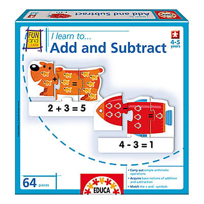"Educa ""I Learn To Add and Subtract"" Educational Puzzle Game"