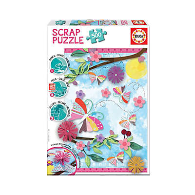 Educa Scrap 500-Piece Garden Art Jigsaw Puzzle
