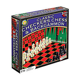 Endless Games Classic Checkers, Chess, and Backgammon Board Game