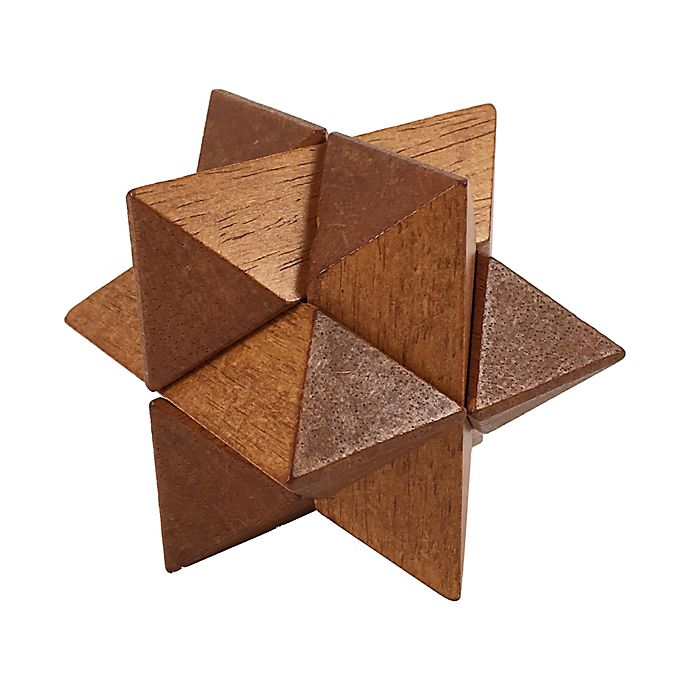 Alternate image 1 for Front Porch Classics Puzzle Logic Wooden Puzzle - Star