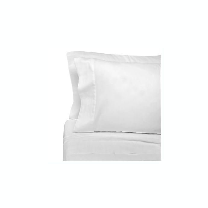 Alternate image 1 for Eugenia Linens Classic Bedding Cotton Sateen Sheet Sets in White