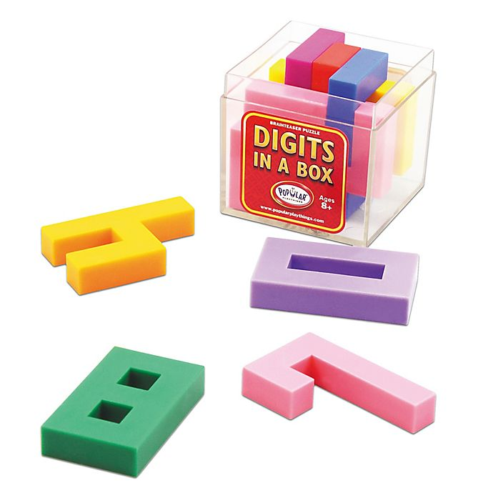 Alternate image 1 for Popular Playthings Digits in a Box Brain Teaser Puzzle