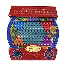John N. Hansen Co. Chinese Checkers & Traditional Checkers Tin