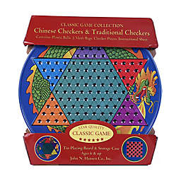 John N. Hansen Co. Chinese Checkers & Traditional Checkers Tin