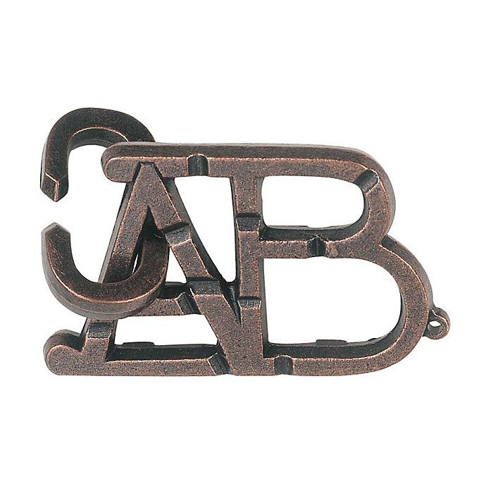 Alternate image 1 for BePuzzled Hanayama Level 1 Cast Puzzle - ABC