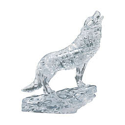 BePuzzled 38-Piece Clear Wolf 3D Crystal Puzzle