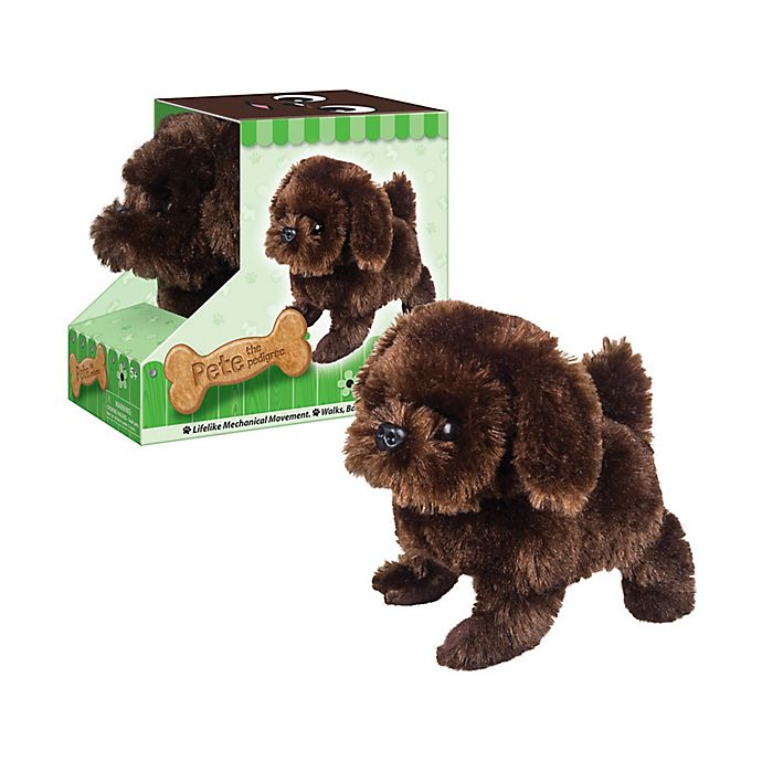 Alternate image 1 for Westminster Inc. Paw Pals Electronic Plush Animal - Pete the Pedigree