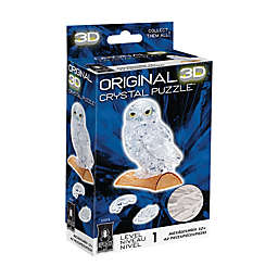 BePuzzled® Owl 42-Piece 3D Crystal Puzzle in White