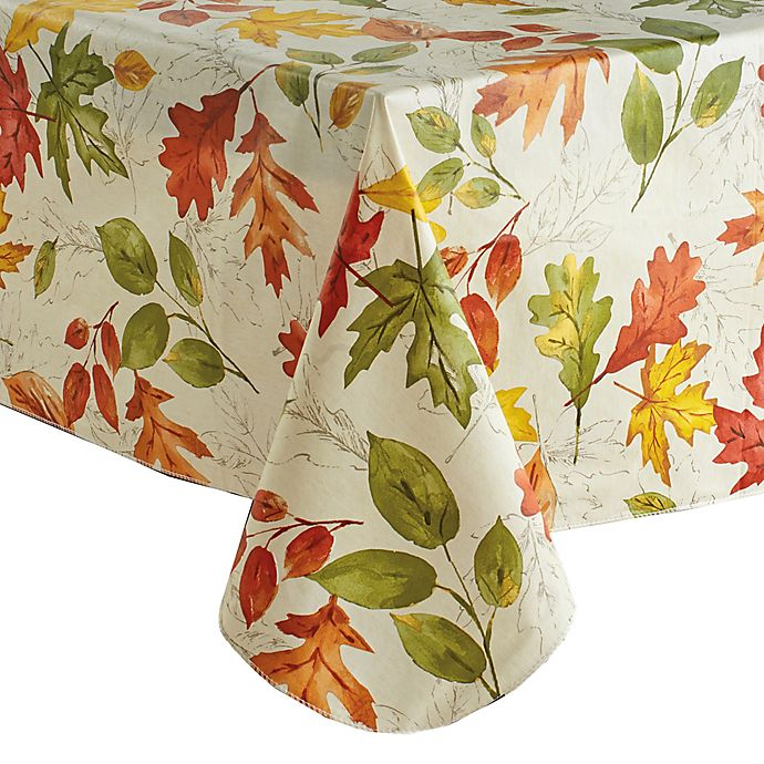 Alternate image 1 for Autumnal Breeze 52-Inch x 70-Inch Oblong Vinyl Tablecloth