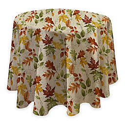 Autumnal Breeze 70 Inch Round Vinyl Tablecloth