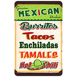 "FoFlor Mexican Sign Board 23"" x 36"" Kitchen Mat in Green"