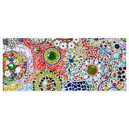 "FoFlor Pathway Mosaic 25"" x 60"" Kitchen Mat"