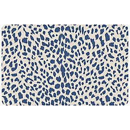 "FoFlor Cheetah 23"" x 36"" Kitchen Mat in Blue"