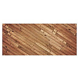 FoFlor Angled Planks Kitchen Mat in Brown
