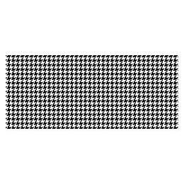 FoFlor New Houndstooth Kitchen Mat in Black/White