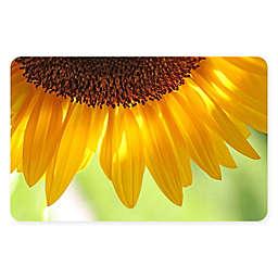 "FoFlor Sunflower 23"" x 36"" Kitchen Mat in Yellow"