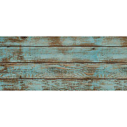 FoFlor Roughwood Kitchen Mat in Aqua/Brown