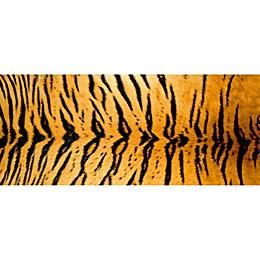 FoFlor Rustic Tiger Kitchen Mat in Orange