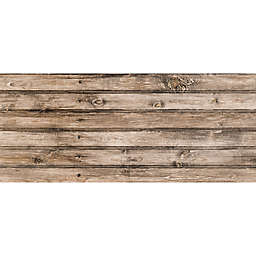 FoFlor Classic Wood Plank Kitchen Mat in Brown