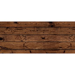 FoFlor Dark Wood Plank Kitchen Mat in Brown