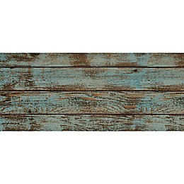 Foflor Dark Painted Floor Kitchen Mat in Aqua/Brown