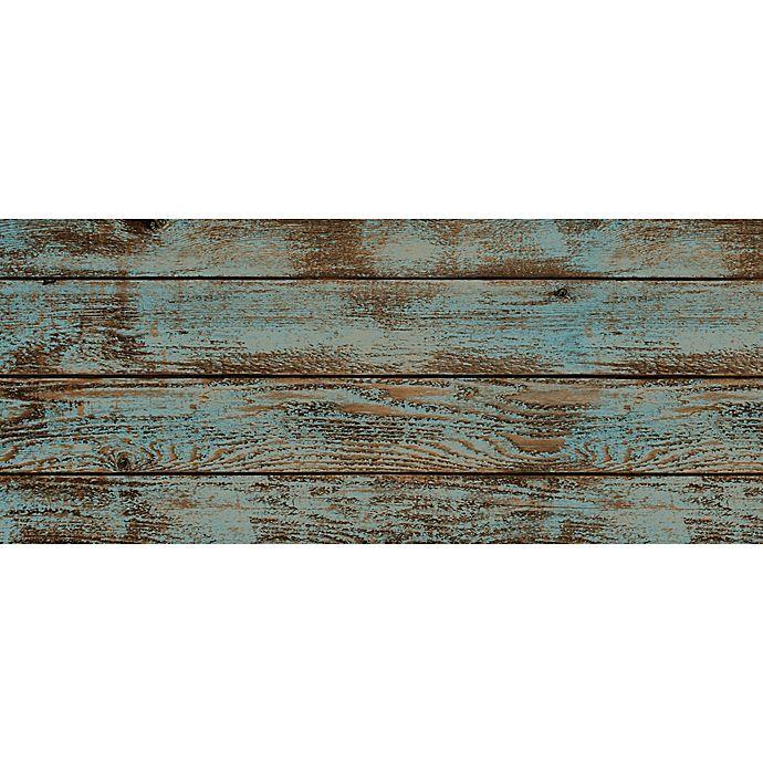 Foflor Dark Painted Floor Kitchen Mat In Aqua Brown Bed Bath Beyond