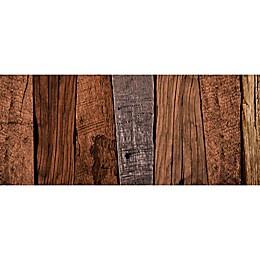 FoFlor Dark Caligari Wood Kitchen Mat in Brown